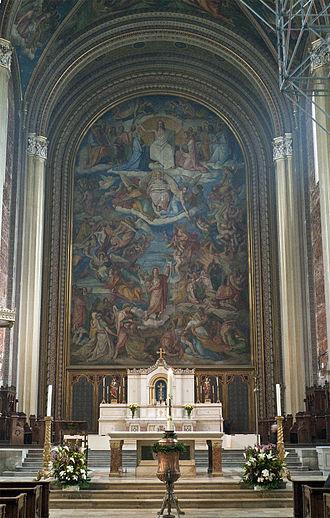 Peter von Cornelius - Fresco of The Last Judgment at the Ludwigskirche in Munich