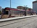 Lyon 3e - Place de Francfort, le Rhône Express aux couleurs du Puy du Fou.jpg