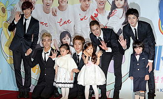 MBLAQ - MBLAQ at the Hello Baby press conference with the child actors