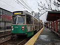 MBTA Green Line train at Northeastern University.jpg