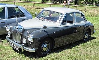 MG Magnette - ZB Varitone first registered March 1957