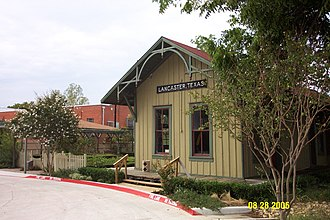 Lancaster, Texas - Lancaster's Historic MKT Depot and Rose Garden