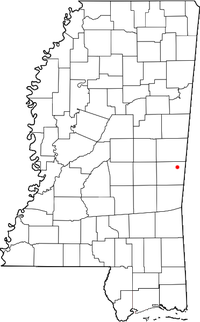 Location of Lauderdale, Mississippi