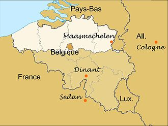 Mechelen incident - The location of the crash site
