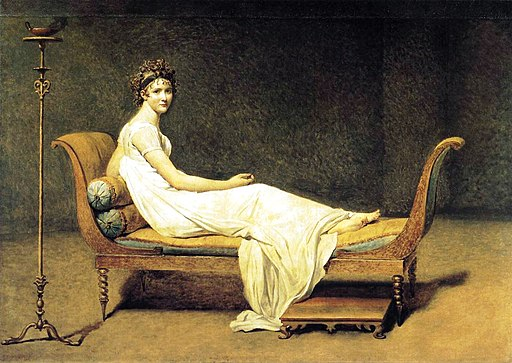 Madame Récamier painted by Jacques-Louis David in 1800