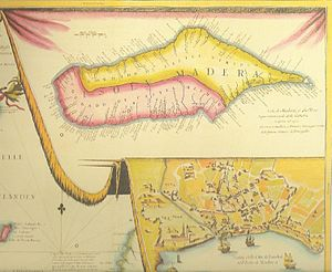 History of Madeira - Madeira in a 17th-century map.