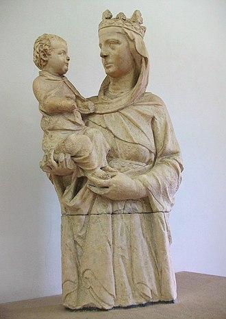 Giovanni Pisano - Image: Madonna del colloquio, Giovanni Pisano, Museo dell'Opera del Duomo (Pisa)