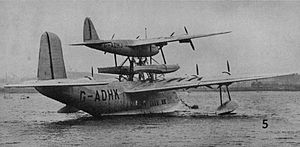 Short Mayo Composite - Just before the first trans-Atlantic flight, August 1938