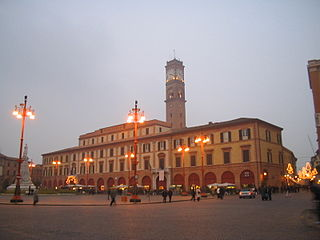 plaza in Forlì, Italy