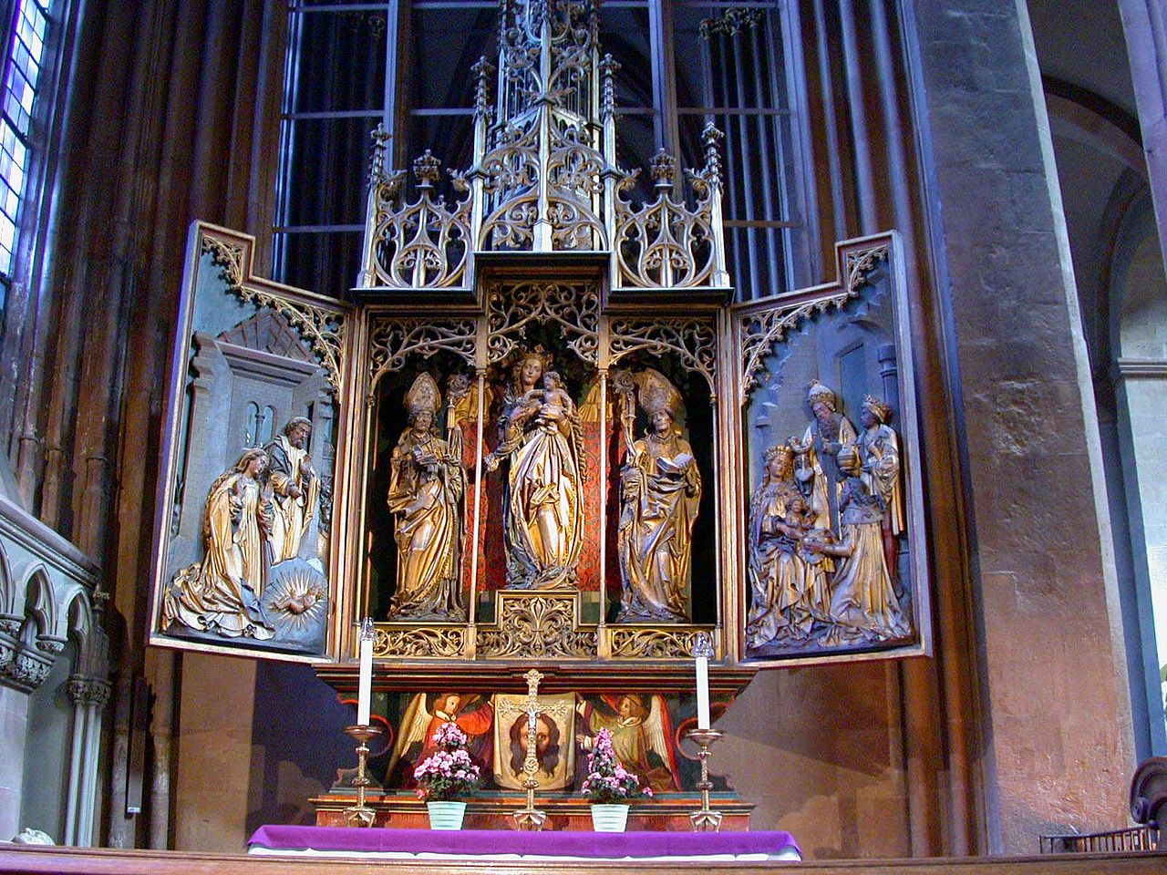 file mainz cathedral st martin polyptych jpg wikimedia commons. Black Bedroom Furniture Sets. Home Design Ideas