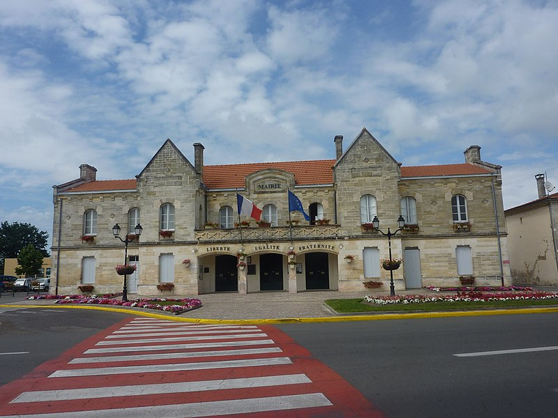 City hall of Vendays-Montalivet, Gironde, France
