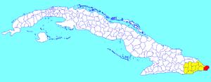 Maisí - Image: Maisí (Cuban municipal map)