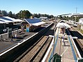 Maitland railway station view of platforms 3 and 4 from footbridge.JPG