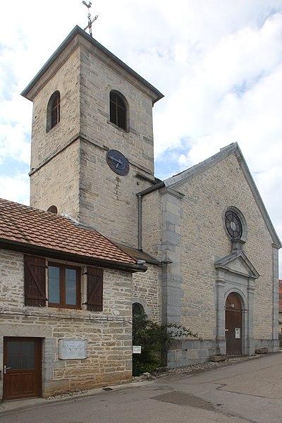 Église Saint-Marcellin de Malbrans (Doubs).