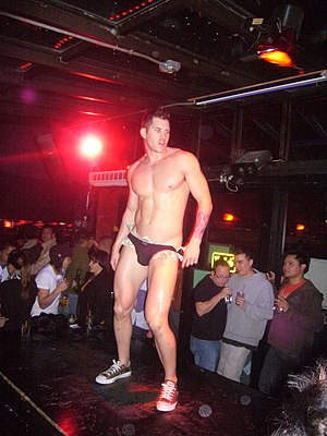 Stripper - A male stripper in 2009
