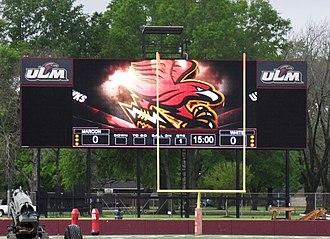 Malone Stadium - Scoreboard in 2012