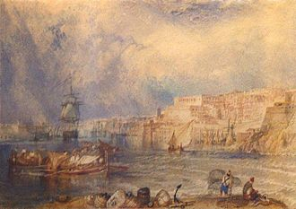National Museum of Fine Arts, Malta - The Turner watercolour displayed in the museum.