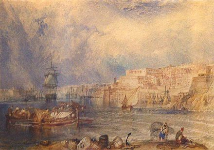 Turner's depiction of the Grand Harbour, National Museum of Fine Arts Malta-Turner- 24042008.jpg