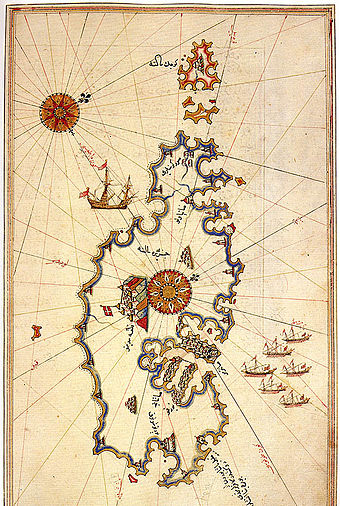 Ottoman map of Malta, by Piri Reis Malta by Piri Reis.jpg
