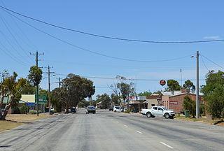 Manangatang Town in Victoria, Australia