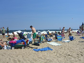 English: The beach in Manasquan, New Jersey.
