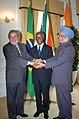 Manmohan Singh with the President of South Africa, Mr. Thabo Mbeki and the President of Brazil, Mr. Luiz Inacio Lula da Silva in the IBSA Summit group photo at Pretoria, South Africa on October 17, 2007.jpg