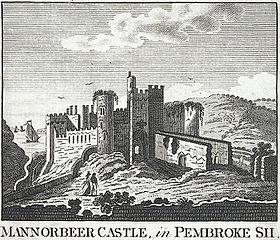 Mannorbeer Castle, in Pembroke Sh