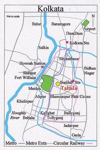 Taltala - Image: Map Kolkata Taltala