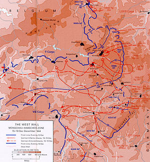 Battle of St. Vith - St. Vith area and surroundings, December 15-19th, 1944. (U.S. Army CMH)