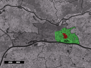Dodewaard - Image: Map NL Neder Betuwe Dodewaard