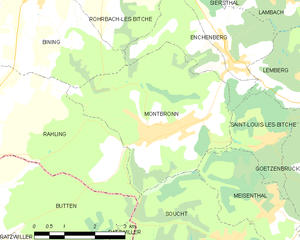 Montbronn - Montbronn's municipal territory