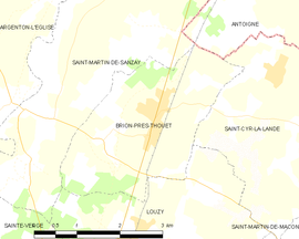 Mapa obce Brion-près-Thouet