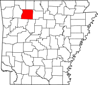 Map of Arkansas highlighting Newton County