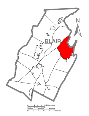 Catharine Township, Blair County, Pennsylvania - Image: Map of Catharine Township, Blair County, Pennsylvania Highlighted