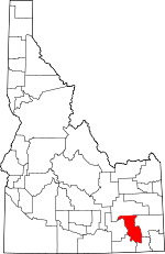 Map of Idaho highlighting Bannock County.svg