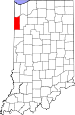 Map of Indiana highlighting Newton County.svg