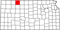 Map of Канзас highlighting Norton County