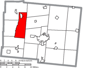 Washington Township, Logan County, Ohio - Image: Map of Logan County Ohio Highlighting Washington Township