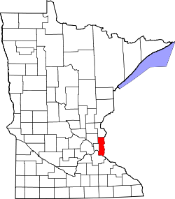 Map of Minnesota highlighting Washington County.svg