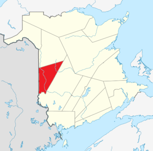Map of New Brunswick highlighting Carleton County.png