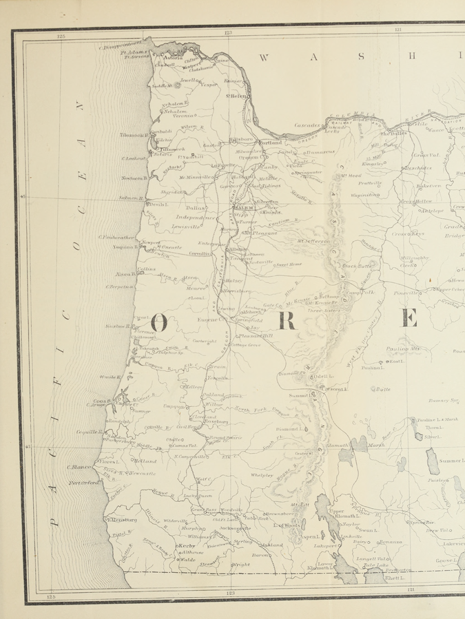 Map of Oregon from Victor and Bancroft's History of Oregon, Vol. 1 (left).png