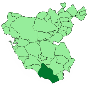 Facinas - Image: Map of Tarifa (Cádiz)