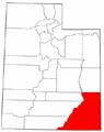 Map of Utah highlighting San Juan County.png