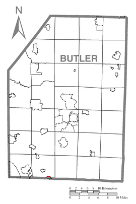 Map of Valencia, Butler County, Pennsylvania Highlighted.png