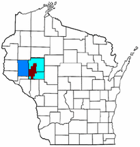 Map of Wisconsin highlighting ECCF Metro.png