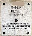 Marek József emléktáblája Kossuth Lajos tér 11.JPG