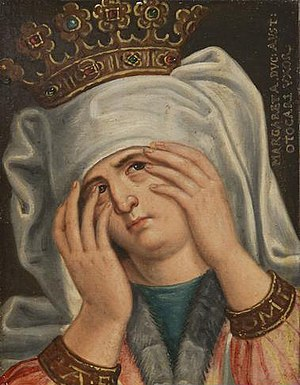 Margaret of Austria, Queen of Bohemia - Portrait by Anton Boys (16th century)