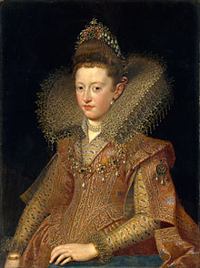 Margarita Gonzaga, future Duchess of Lorraine as depicted in 1606 by Frans Pourbus the Younger.jpg