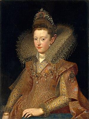 Margherita Gonzaga, Duchess of Lorraine - Portrait by Frans Pourbus the younger, 1606. Metropolitan Museum of Art, New York City.