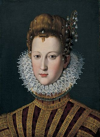 Marie de' Medici - Portrait of Marie de' Medici as a young girl.
